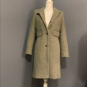 Olive green duster winter jacket